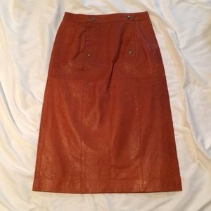 NEW ASOS leather midi skirt